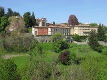 Byggnader i Bergamo Royaltyfria Foton