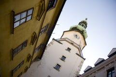 Byggnader i Bratislava, Slovakien Arkivbild