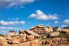 Byggnader i Brittany Arkivbild