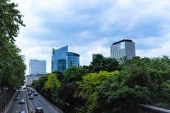 Byggnader i Bryssel, Belgien, Maj 2018 arkivfoton