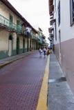 Byggnader i Casco Viejo, Panama Royaltyfri Foto