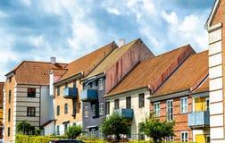 Byggnader i den gamla staden av Helsingor - Danmark Royaltyfri Bild