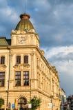 Byggnader i den gamla staden av Prerov, Tjeckien Royaltyfria Foton