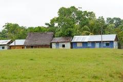 Byggnader i den lilla byn av Santa Ana Arkivbild