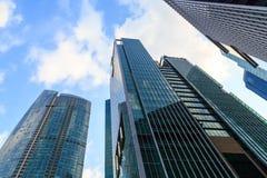 Byggnader i den Singapore staden Royaltyfri Fotografi