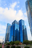 Byggnader i den Singapore staden, Singapore - 13 September 2014 Arkivfoton