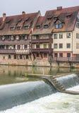 Byggnader i den tyska staden av nuremberg Royaltyfri Fotografi