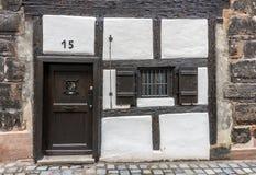 Byggnader i den tyska staden av nuremberg Royaltyfri Bild