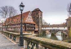 Byggnader i den tyska staden av nuremberg Fotografering för Bildbyråer