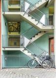 Byggnader i den tyska staden av nuremberg Arkivfoton