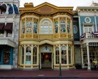 Byggnader i det magiska kungariket, Walt Disney World, Orlando, Florida Arkivbilder