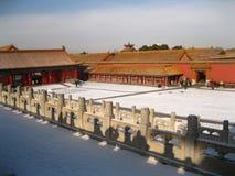 Byggnader i Forbidden City Arkivbilder