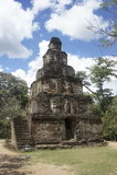 Byggnader i forntida förstörd stad för polonnaruwa i Sri Lanka Arkivbild