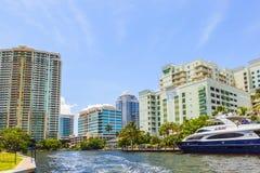 Byggnader i Fort Lauderdale Arkivfoto
