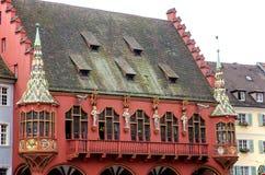 Byggnader i Freiburg Arkivfoton