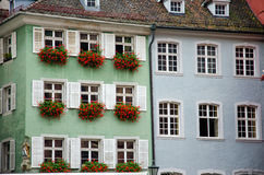 Byggnader i Freiburg Royaltyfria Bilder
