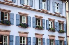 Byggnader i Freiburg Royaltyfri Foto