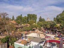 Byggnader i Frontierland på Disneyland parkerar royaltyfria foton