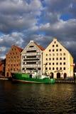 Byggnader i Gdansk Arkivfoton