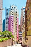 Byggnader i Hong Kong Royaltyfria Foton