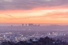 Byggnader i i stadens centrum Los Angeles arkivfoton