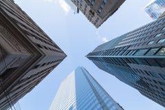 Byggnader i i stadens centrum Toronto Arkivbild