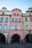 Byggnader i Jelenia Gora Royaltyfri Fotografi