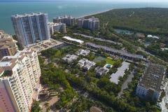 Byggnader i Key Biscayne Florida royaltyfria foton