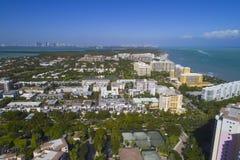 Byggnader i Key Biscayne Florida royaltyfri foto