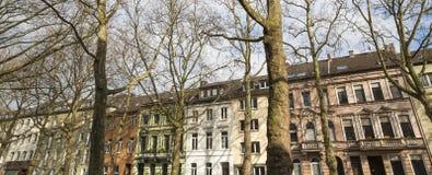 byggnader i krefeld Tyskland Arkivbild