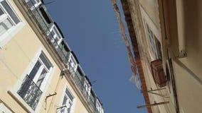 Byggnader i Lisbon stock video