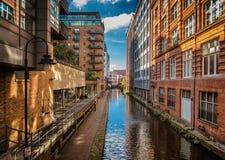 Byggnader i Manchester, England Arkivfoton