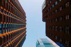 Byggnader i Manhattan, New York, USA arkivfoto
