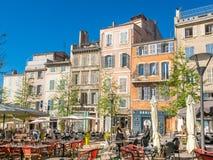 Byggnader i Marseille Royaltyfri Bild