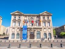 Byggnader i Marseille Arkivfoto