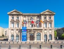 Byggnader i Marseille Arkivbilder