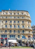 Byggnader i Marseille Arkivfoton