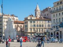 Byggnader i Marseille Royaltyfria Foton
