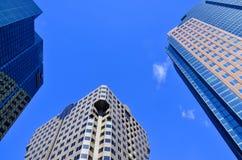 Byggnader i Montreals internationella område Arkivbilder