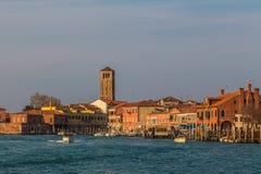 Byggnader i Murano Arkivbilder
