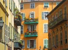 Byggnader i Nice, Frankrike Fotografering för Bildbyråer