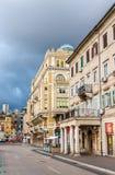 Byggnader i Rijeka, Kroatien Royaltyfri Bild