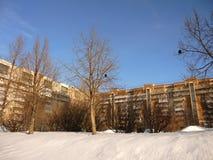 Byggnader i samaraen, Ryssland Arkivbilder