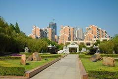 Byggnader i Shanghai Arkivbild