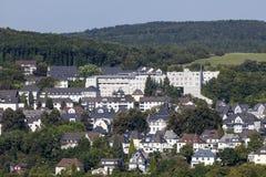 Byggnader i Siegen, Tyskland Arkivfoto