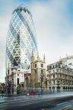 Byggnader i stad av London Royaltyfria Bilder