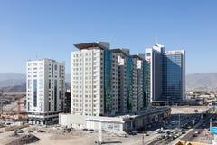 Byggnader i staden av Fujairah, UAE Arkivbild