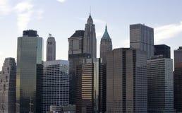 byggnader i stadens centrum manhattan Fotografering för Bildbyråer