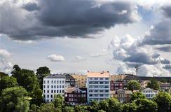 Byggnader i i stadens centrum Oslo 1 Royaltyfri Fotografi