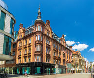 Byggnader i stadsmitten av Konstanz, Tyskland fotografering för bildbyråer